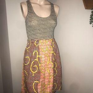 Porridge by Anthropologie Dress with Silk Skirt XS